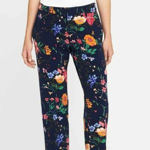 Mid-Rise Floral Harper Ankle Pants NWT 12